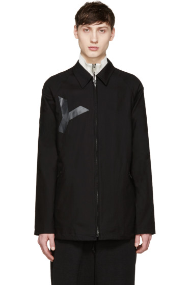 Y-3 - Black Twill Tab Jacket