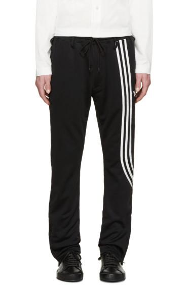 Y-3 - Black Fluid Stripe Lounge Pants