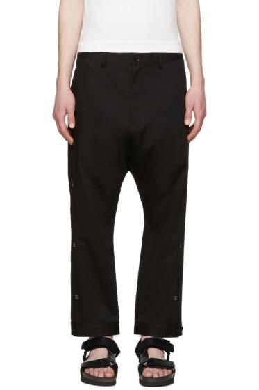 Y-3 - Black Bar Tack Trousers