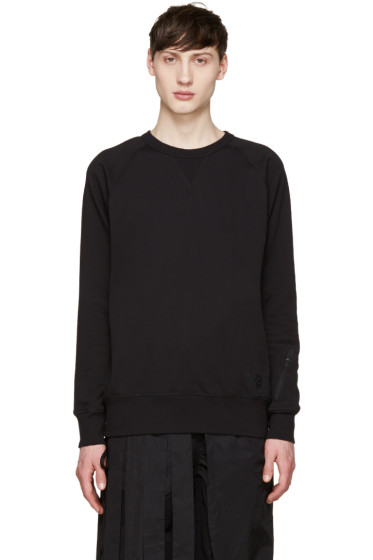 Y-3 - Black Ribbed Sweatshirt