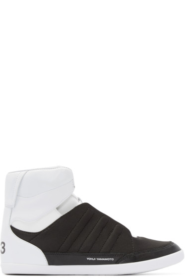 Y-3 - Black & White Honja High-Top Sneakers