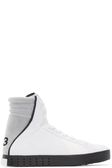 Y-3 - White Mid LT High-Top Sneakers