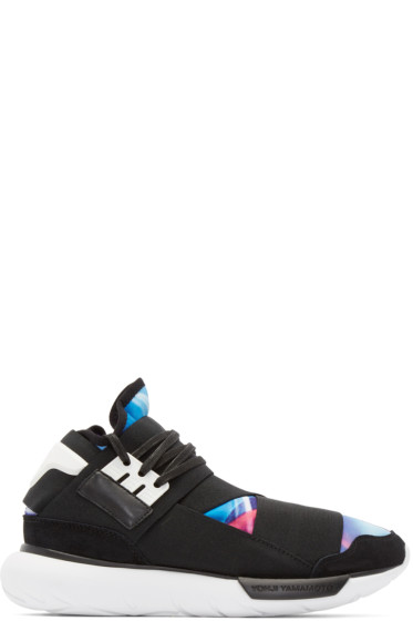 Y-3 - Black & Mulitcolor Qasa High Sneakers