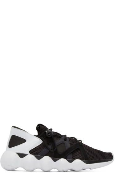 Y-3 - Black & White Mesh Kyujo Sneakers