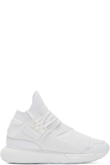 Y-3 - White Neoprene Qasa High-Top Sneakers