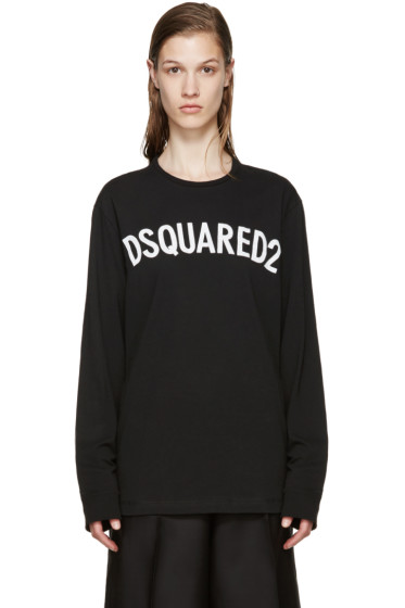 Dsquared2 - Black Jersey Logo T-Shirt