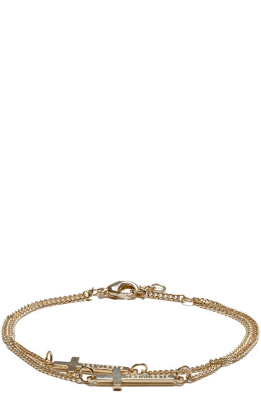 Dsquared2 - Gold Double Cross Bracelet.