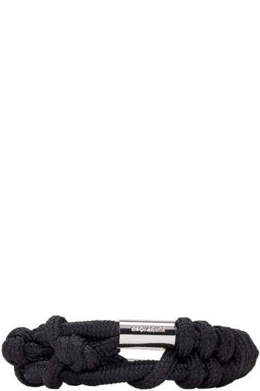 Dsquared2 - Black Knotted Rope Bracelet