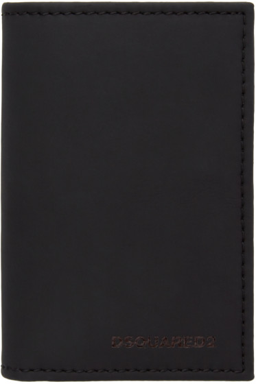 Dsquared2 - Black Matte Leather Card Holder