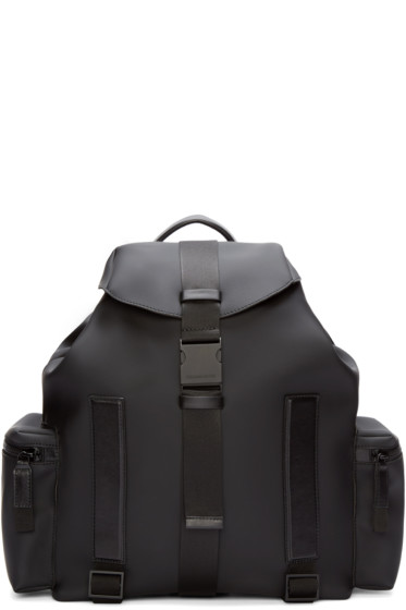 Dsquared2 - Black Rubber Backpack