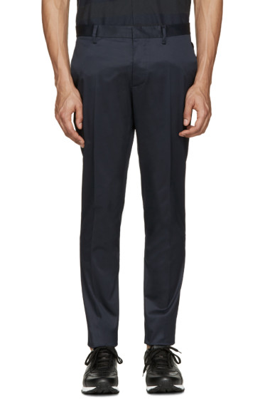 Dsquared2 - Navy Raw Hem Trousers