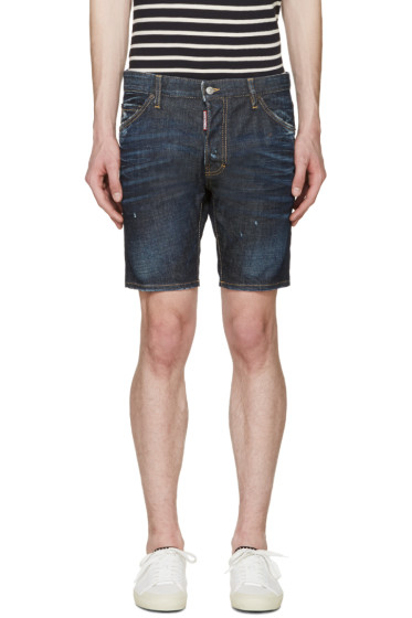 Dsquared2 - Indigo Denim Pencil Shorts