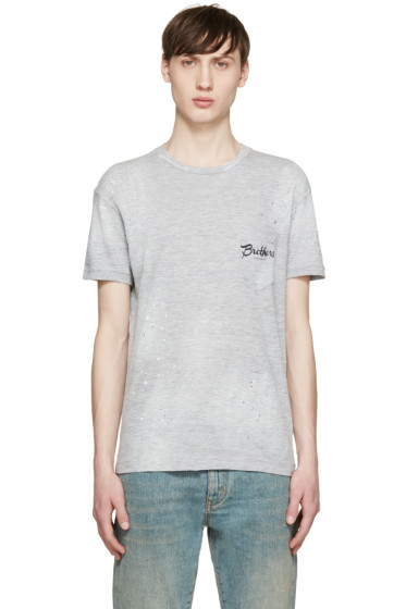 Dsquared2 - Grey Brothers Pocket T-Shirt