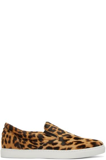 Dsquared2 - Brown Calf-Hair Slip-On Sneakers