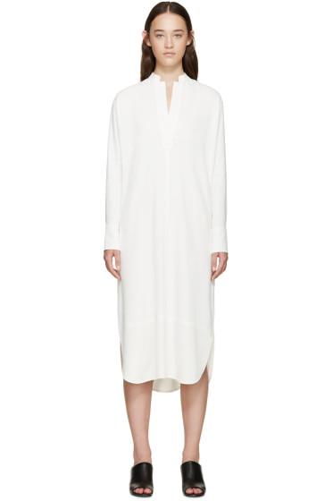 Helmut Lang - White Crepe Shirt Dress