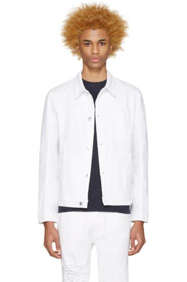 Helmut Lang - White Distressed Denim Jacket