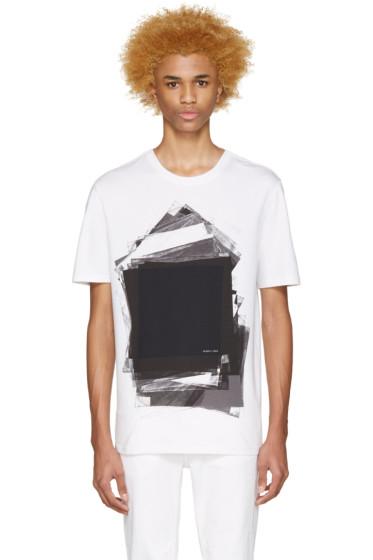 Helmut Lang - White & Black Transparency T-Shirt