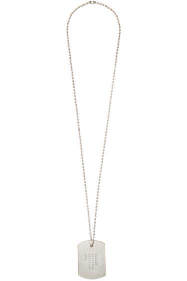 Maison Margiela - Silver Tag Necklace