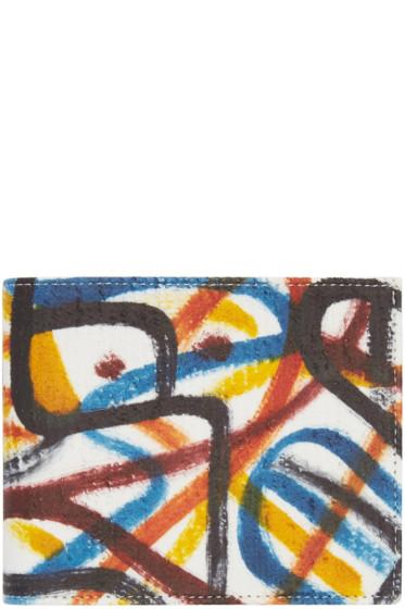 Maison Margiela - Multicolor Leather Graffiti Wallet