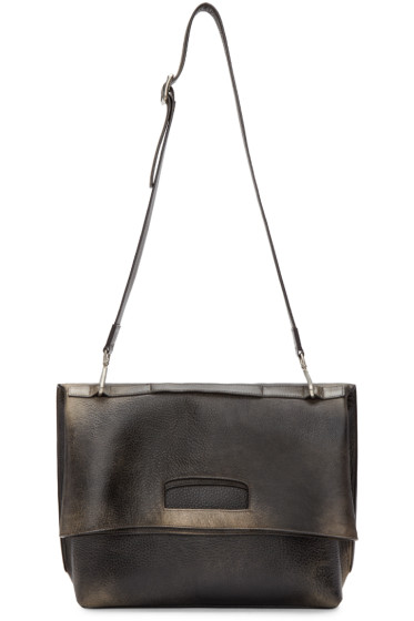 Maison Margiela - Black Aged Leather Bag