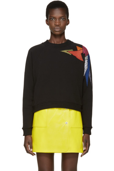 Christopher Kane - Black & Multicolor Shard Pullover