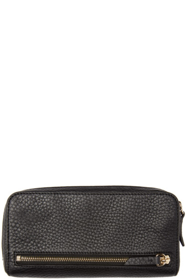 Alexander Wang - Black Leather Fumo Continental Wallet