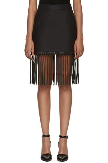 Alexander Wang - Black Fringed Hem Miniskirt
