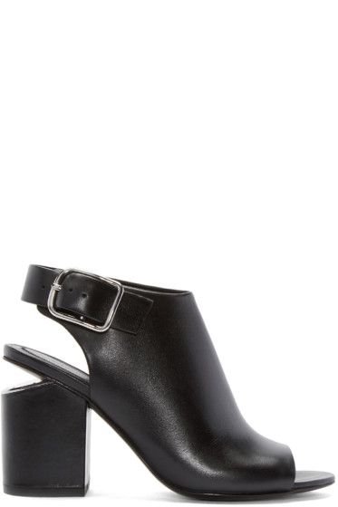 Alexander Wang - Black Leather Nadia Heels