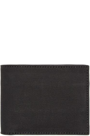 Alexander Wang - Black Rubberized Canvas Wallet