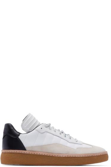 Alexander Wang - White & Black Leather Eden Sneakers