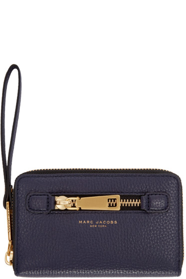 Marc Jacobs - Navy Leather Gotham City Wallet