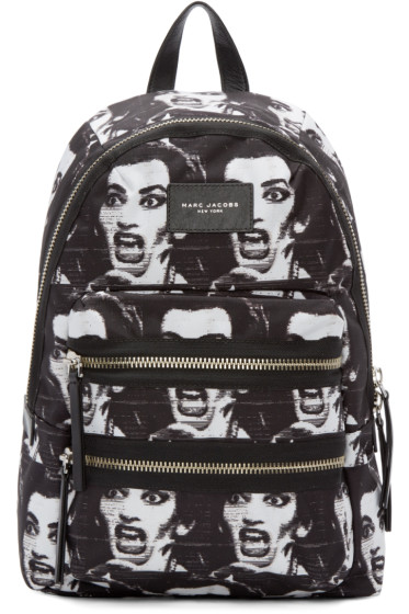 Marc Jacobs - Black & White Maria Callas Backpack
