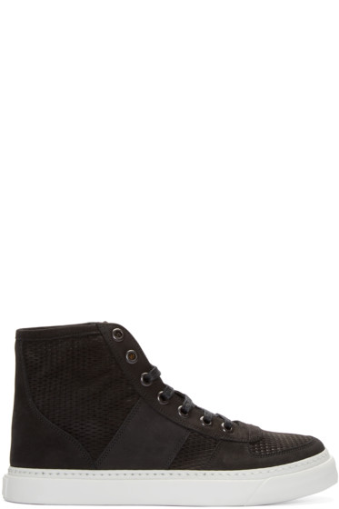 Marc Jacobs - Black Suede High-Top Sneakers