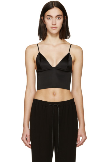 T by Alexander Wang - Black Satin Finish Bustier
