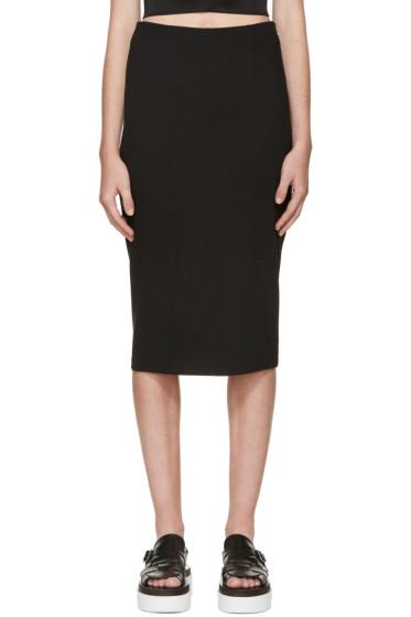 T by Alexander Wang - Black Ponte Pencil Skirt