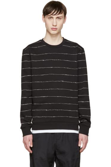 T by Alexander Wang - Black Scribble Sweatshirt