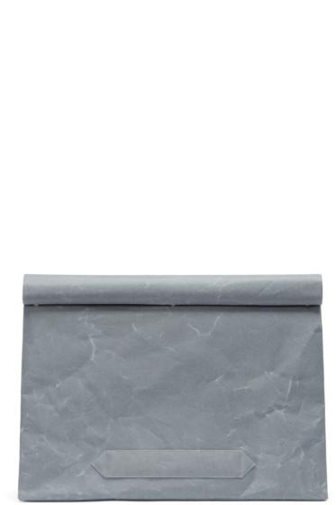 Robert Geller - Grey Paper Siwa Briefcase