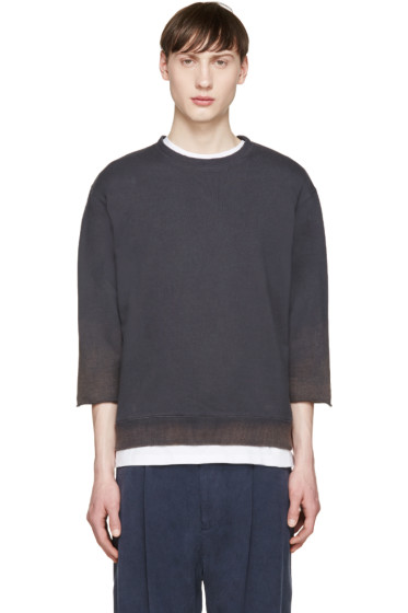 Robert Geller - Grey Bleach Spray Pullover