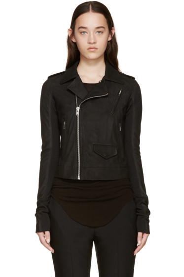Rick Owens - Black Leather Stooges Jacket