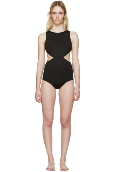 Rick Owens - Black Open Back Swimsuit