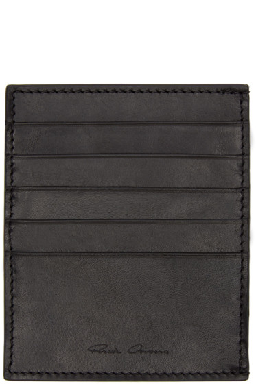 Rick Owens - Black Leather Card Holder
