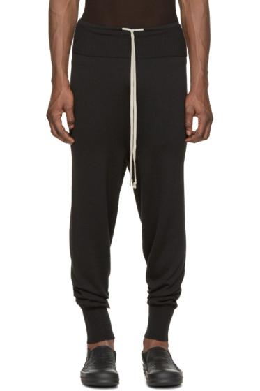 Rick Owens - Black Long Drawstring Lounge Pants