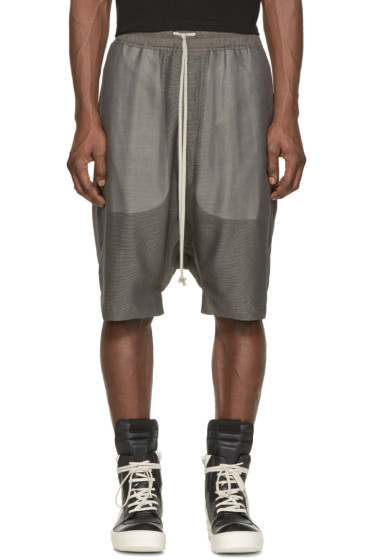 Rick Owens - Grey Silk Pods Shorts