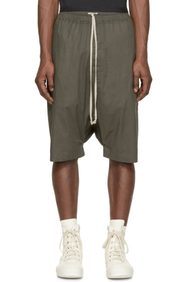 Rick Owens - Green Pod Shorts