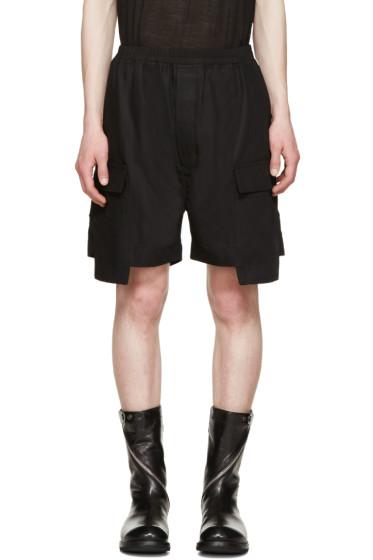Rick Owens - Black Cargo Boxer Shorts