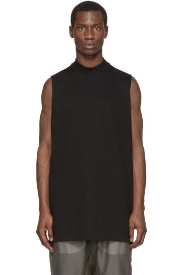 Rick Owens - Black Oversized Sleeveless Sweatshirt