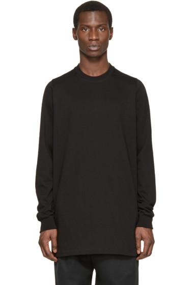 Rick Owens - Black Jersey Sweatshirt