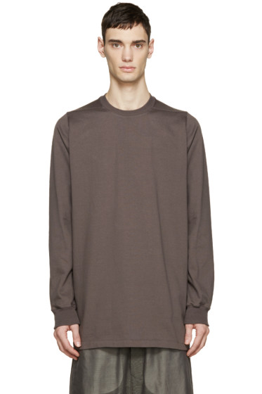 Rick Owens - Grey Cotton Crewneck Sweatshirt