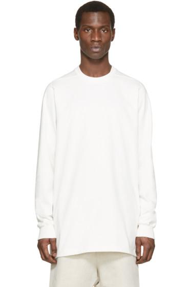 Rick Owens - White Oversized Crewneck Sweatshirt