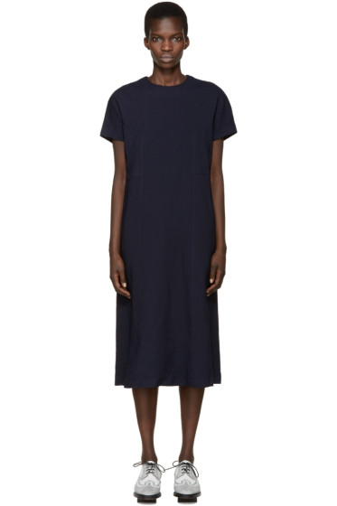 Comme des Garçons - Navy Twill Panelled Dress